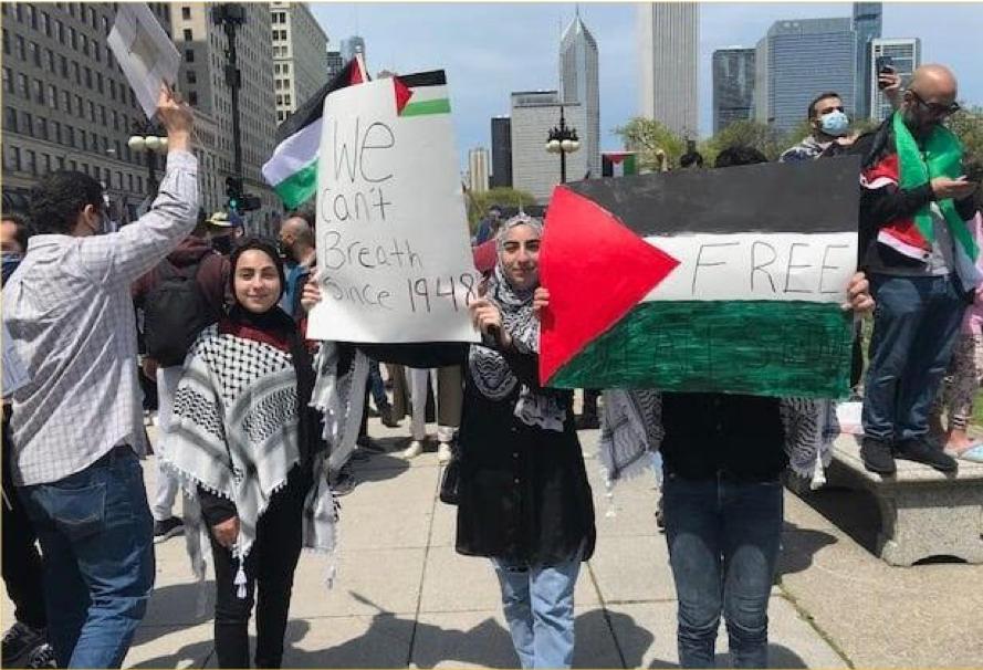 Chicago Demonstration against Israeli attacks on Palestine, May 16, 2021